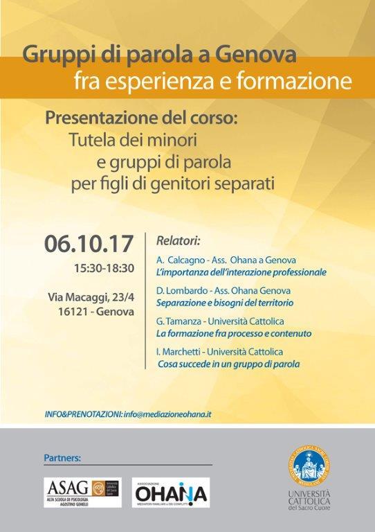 Gruppi di parola a Genova fra esperienza e formazione
